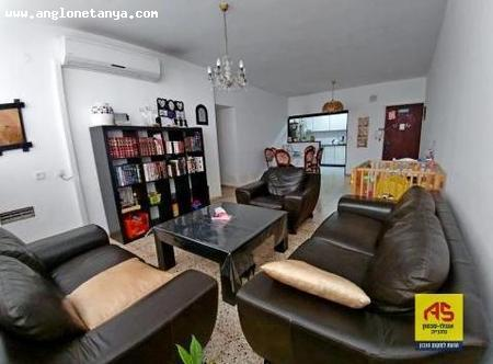 Real Estate Israel - Netanya City Center 3  bedroom apartment facing front (south), bright and spacious, in the city center. for sale  for a... Anglo Saxon Netanya