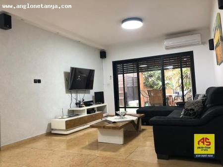 Real Estate Israel - Netanya Hairussim Givat In Givat Hairussim, a beautiful renovated garden apartment, a mini-central air conditioning and all... Anglo Saxon Netanya