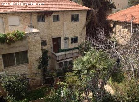 Real Estate Israel - Jerusalem Nayot On pastoral Neve Shaanan a 3.5 room unit with an option to build 140 sq m, private entrance, large... Shelly Landau Properties