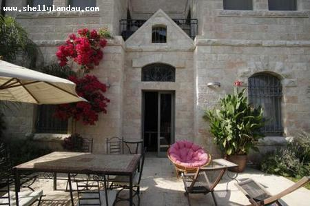 Real Estate Israel - Jerusalem Talbiyeh Exquisite  eight room   home with high ceilings, four exposures, 2600 sq ft living space surrounded... Shelly Landau Properties