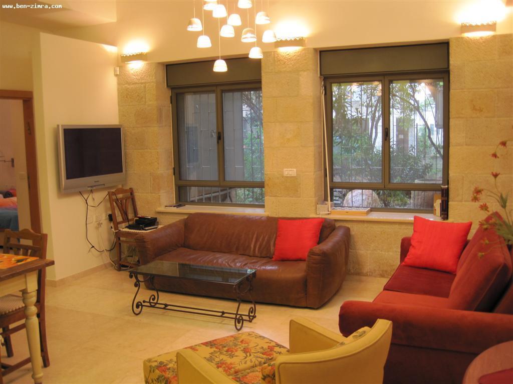 Real Estate Israel - Jerusalem Old Katamon One of a kind, Luxurious and Beautifully furnished 4 room apartment on Kaf-Tet BeNovemeber street... Ben Zimra Real Estate