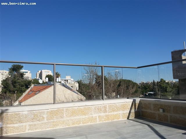 Real Estate Israel - Jerusalem Old Katamon IN The heart of Old Katamon,New Penthouse,Shabat elevator,large terrace,view,large master... Ben Zimra Real Estate