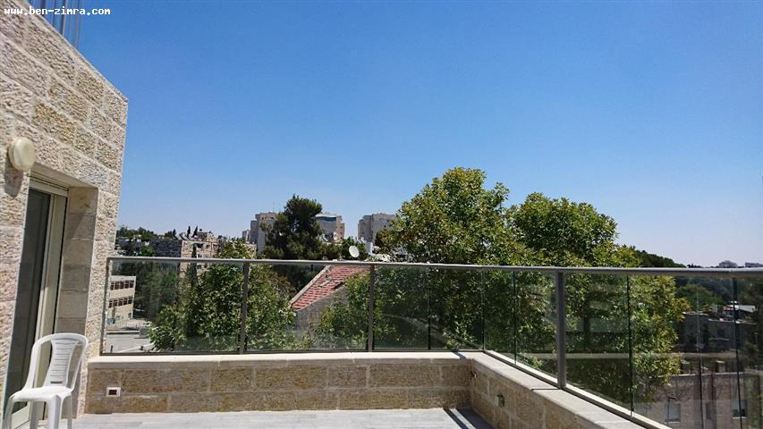 Real Estate Israel - Jerusalem Old Katamon IN The heart of Old Katamon,New Penthouse on one level,Shabat elevator,Last floor,large terrace,200... Ben Zimra Real Estate