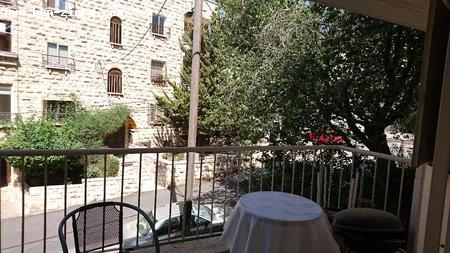 Real Estate Israel - Jerusalem Kiryat Shmuel IN A SMALL CHARMING LANE,STONE BUILDING,LARGE 2 ROOMS ,FIRST FLOOR, 2 BALCONIES GOOD... Ben Zimra Real Estate